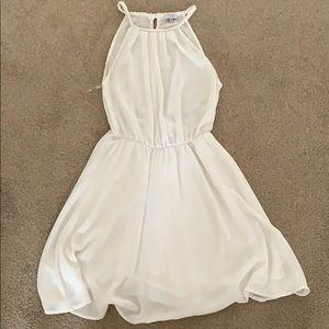 White sundress, semi open back